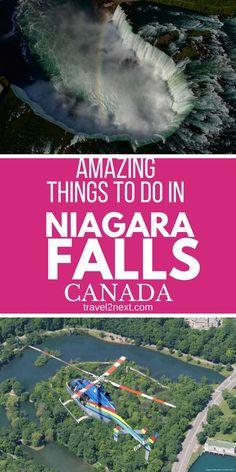 The most amazing things to do in Niagara Falls: great tips from a local. #canada #explorecanada #travel #niagarafalls #visitniagara #niagara #ontario #waterfalls #waterfall #bucketlist #thingstodo #canadatravel