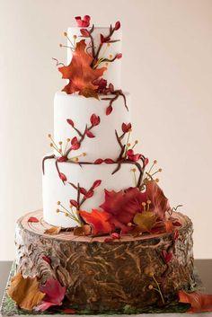 24 Fall Wedding Cakes That WOW   Wedding Forward