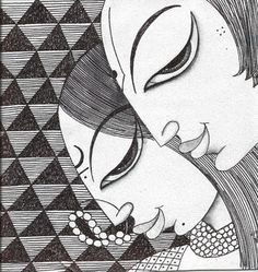 Artflute - Buy Limited Edition Prints of Original Contemporary Art Madhubani Art, Madhubani Painting, Ganesha Painting, Doodle Art Designs, Indian Folk Art, Indian Art Paintings, Art Drawings Sketches, Zentangle Drawings, Fabric Painting