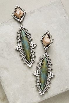 We are obsessed with these Dannijo Tatiana drop earrings! Click to buy on ShopStyle