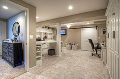 16 best tour a finished basement with craft room guest suite rh pinterest com