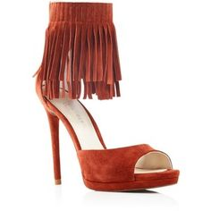 Kenneth Cole Geneva Fringe Ankle Strap Open Toe Pumps - 100% Bloomingdale's Exclusive