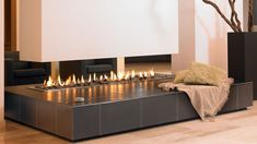 Newest Snap Shots gas Fireplace Design Tips Whether you live around Aspen or even Los angeles, there's really no questioning the particular reassuring influence r Classic Fireplace, Modern Fireplace, Living Room With Fireplace, Living Room Modern, Living Area, Living Spaces, Suspended Fireplace, Contemporary Fireplace Designs, Corner Designs
