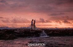 Cloudy sunset in Hawaii at the beach portrait session for eloping Natural Light Photography, Beach Portraits, My Images, Portrait Photographers, Hawaii, Maternity, Glamour, Silhouette, Sunset