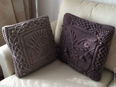 """Купить Диванные подушки """"Дубок и Рябинушка"""" - интерьер, диванные подушки, интерьерные подушки, дом, для дома"""