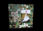 Shimmer... Pretty Little Things Irish theme mixed media mosaic frame