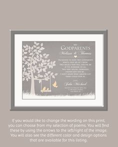 38 Best Gifts For Godparents Images Baptism Favors Godchild