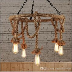 2016 New Arrivals Lampara Rope Vintage Pendant Lights Retro Industrial Edison Lamps Nordic Loft Light Fixtures Lustre Industriel Lamp Unique Pendant Lights Green Pendant Lights From Chriszhu1990, $120.31| Dhgate.Com