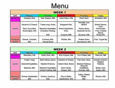 1000 images about daycare menus on pinterest daycare for Daycare food menu template