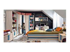 Jednolôžková posteľ CAPS. K tejto posteli je možné si priobjednať dolnú posteľ s matracom (označenie: BRW - CAPS - LOZ_85D)