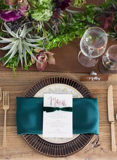 Jewel Tone Wedding Florals – Inspired by This