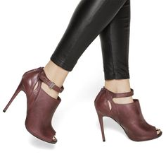 love the style of this bootie - but do i get it in this metallic wine type color or in plain black??