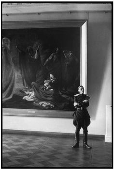 RUSSIA. Leningrad. 1954. Russian Museum. Officer. by Henri Cartier-Bresson