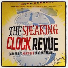 Save Some Time To Dream The Speaking Clock Revue @ The Beacon Theatre October 20, 2010 #tbt #throwbackthursday Check out the video! http://m.youtube.com/watch?v=kXUotX8qRnc