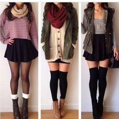 I'm not all into sweaters and stuff but I would wear these. Just swap the skirts for jeans and we'd be good