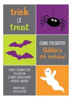 Polka Dot #Design Digital #Halloween Icons Invitation