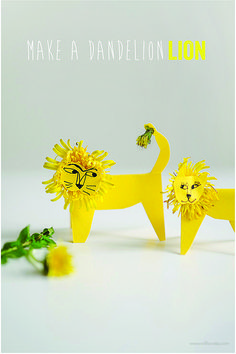 Dandelion Lions with printable template | willowday