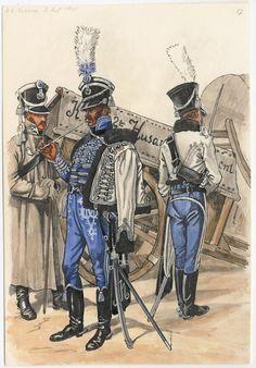 BAYERN - Cuirassier:  Bavarian 2nd Hussars, by Georg Schafer