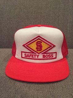 129ae547e7d Vintage Safety Boss Oilfield Trucker Hat Mesh Snap Back Oil Gas Calgary  Kuwait