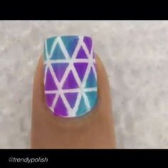 Nail DIY tutorial. By @trendypolish HOW TO: Blue & Purple Tape Mani full tutorial is live on YouTube (link in bio). I used a DAMP (not soaking wet) makeup sponge to apply the colours, I feel using a damp sponge make the colours blend better. And, the NAIL TAPE is from eBay.✨ #nailideas #nail #nailart #nailpolish #nailhowto #nailtutorial #nailartdesign #naildiy #tutorial #tutorials #instructions #instruction #diy #nailartjunkie #diyideas #diyproject #doityourself #nailtape #ideas #nailpicto