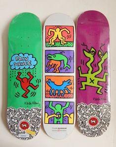 Skateboard Deck Art, Skateboard Design, Friend Crafts, Tape Art, Cool Skateboards, Skate Decks, Surf, Keith Haring, Art Boards