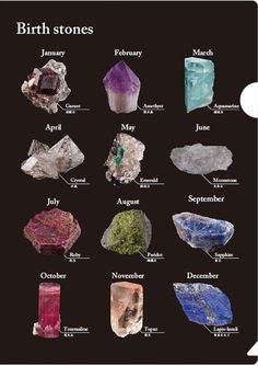 Chart showing popular rocks, either to identify or to collect Crystal Healing Chart, Crystal Guide, Crystal Magic, Minerals And Gemstones, Rocks And Minerals, Chakra Crystals, Stones And Crystals, Meditation Crystals, Crystal Meanings