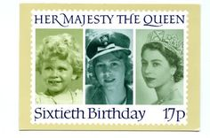 The Queen's 60th birthday stamp (1986), shows her as a child
