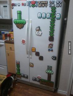 8-bit fridge art