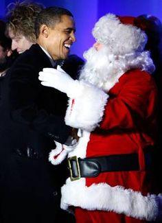 President Obama Greets Santa