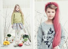 floweral dress/ kids fashion autumn winter 2015