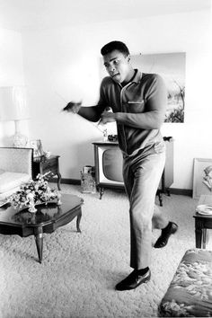 Mohammed Ali - his PMA and self belief are legendary - would love to understand where those qualities came from.
