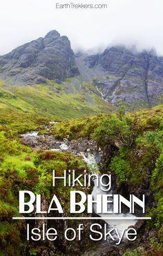 Hiking Bla Bheinn on the Isle of Skye, Scotland