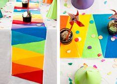 DIY: Rainbow Felt Table Runner