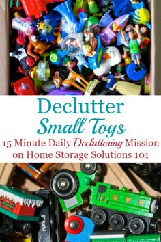 Here are tips for decluttering toys from your home, specifically focused on toys with small parts and sets of toys {a #Declutter365 mission on Home Storage Solutions 101} #DeclutteringToys #DeclutterToys #ToyClutter