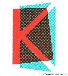 Daily drop cap . logo . overlay . color . K . monogram . texture