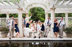 Cute wedding party photo