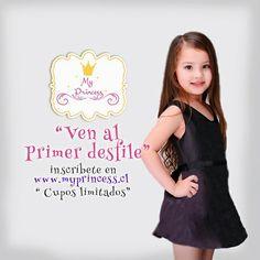 ¡¡ Ven a nuestro desfile !! Conoce nuestra nueva colección de vestidos de fiesta para niñitas, desde la talla 1 a la 18, apúrate, son cupos limitados. Inscríbete en www.myprincess.cl