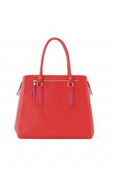 Red Tech Tote Bag with Shoulder Strap | Poppy Madison Tech Bag | Stella & Dot