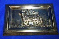 Vintage German Metal Paschal Lamb Chocolate Bar Mold #CB3