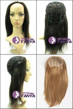 インド の remy人間の髪の毛グルーレスハーフウィッグ ヘッド 3/4 かつら休日の コス プレ かつら すべて の色在庫