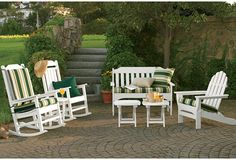 LLBean all-weather outdoor furniture. add a fire pit in the middle and move the whole thing to our back yard.