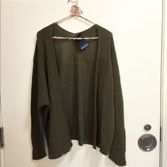 NWT Olive Caroline Cardigan Beautiful, olive colored and textured cardigan Brandy Melville Sweaters Cardigans