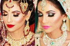 Beautiful shaadi and valima looks! Makeup by Saleha