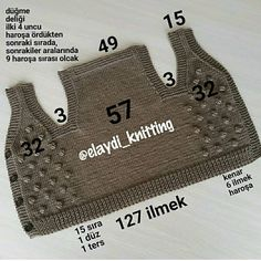 Baby Boy Knitting Patterns, Baby Sweater Knitting Pattern, Baby Dress Patterns, Hand Knitting, Crochet Yoke, Crochet Mandala Pattern, Crochet Baby, Baby Blog, Baby Vest