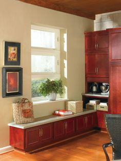 Thomasville Cabinetry's bench seating is versatile and looks great in any area of the home!