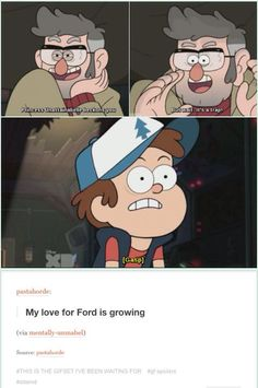 Ford is EVERYTHIIIIIING <<< I absolutely love Ford's relationship with Dipper this episode. Like, I was squealing when I saw them laughing and getting along so well, as they obsessively played their adorable nerdy game. So precious ^-^: