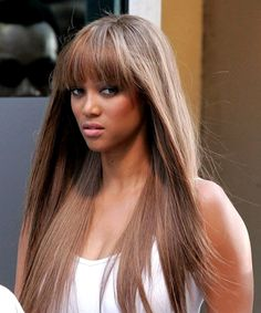 Tyra Banks I love her hair colour.....