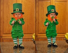 Dad turns 6-month-old son into mischievous leprechaun for St. Patrick's Day - Cuteness overload! #StPatricksDay #humor