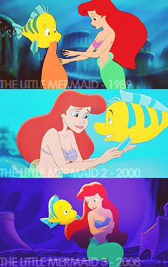Little Mermaid Over The Years
