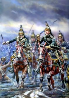 Charge of the French Dragoons at the Battle of Dresden- by Telenik